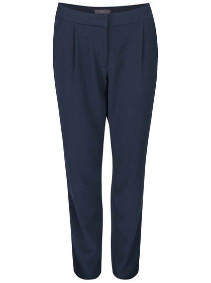 Tmavomodré nohavice rovného strihu ICHI Sirit