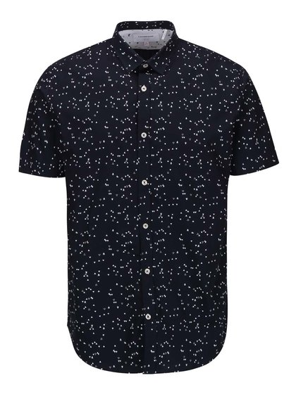 Tmavě modrá košile se vzorem Lindbergh Gibson Out