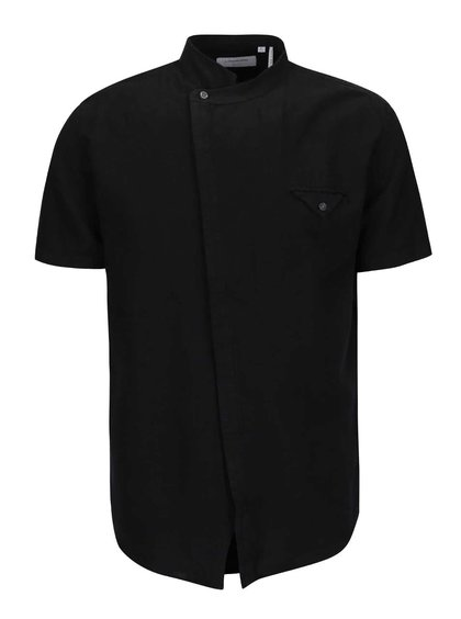 Černá asymerická košile Lindbergh Gibson Out
