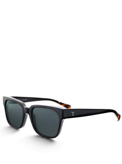 Hnědo-černé unisex acetátové sluneční brýle TRIWA Midnight Lector
