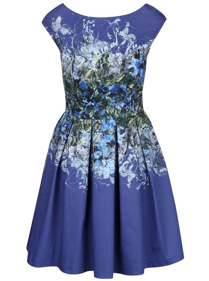 Modré šaty so vzorom Closet