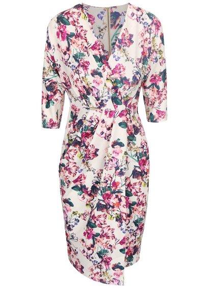 Krémové šaty s květinovým motivem Closet
