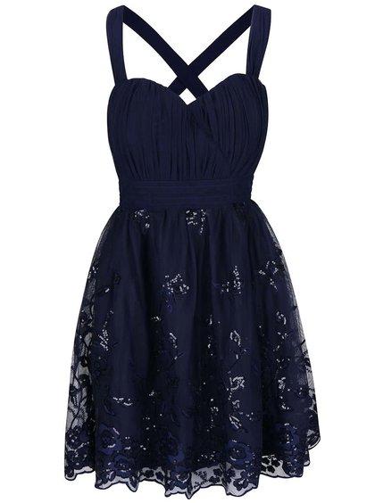 Tmavě modré šaty s flitry Little Mistress