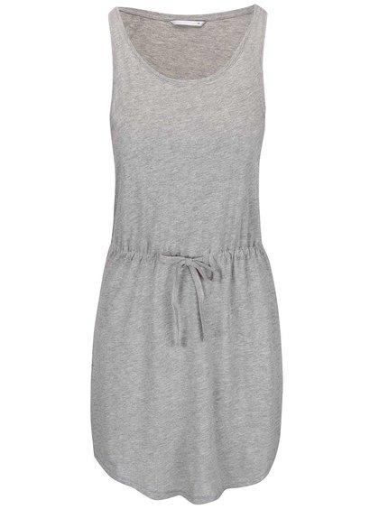 Svetlosivé šaty so stiahnutím v páse ONLY May