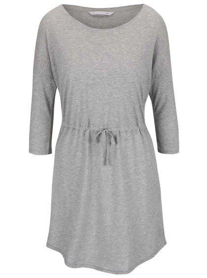 Svetlosivé šaty s 3/4 rukávom ONLY May
