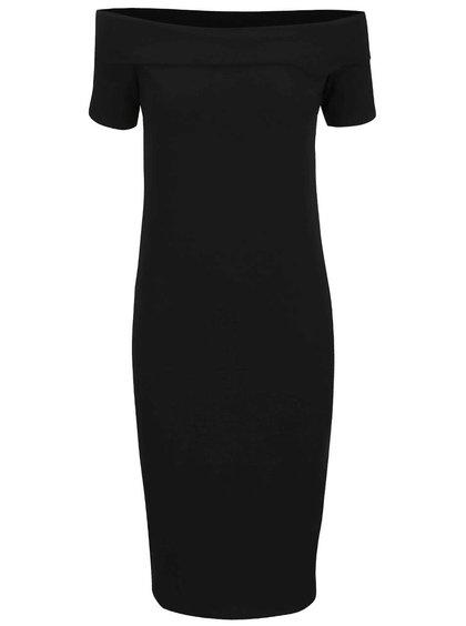 Čierne šaty s lodičkovým výstrihom ONLY Live Love