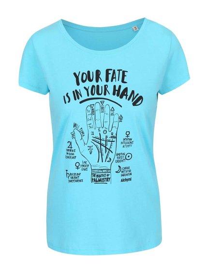 Tyrkysové tričko s potiskem Alchymi Fate
