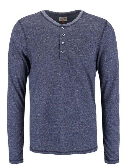 Tricou Blend albastru cu mâneci lungi
