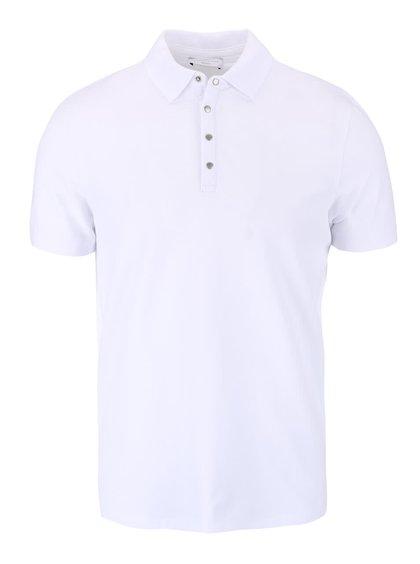 Bílé polo triko Selected Homme Dawson
