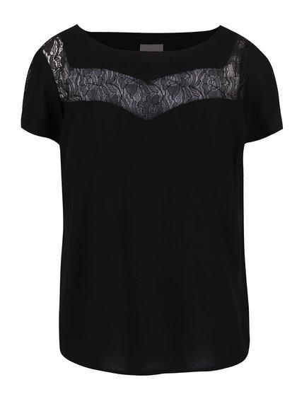 Černá halenka s krajkovými detaily Vero Moda Sunny