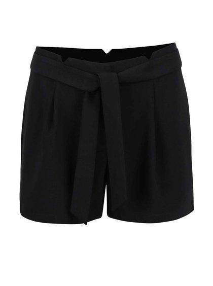 Čierne kraťasy s všitým opaskom Vero Moda Garry