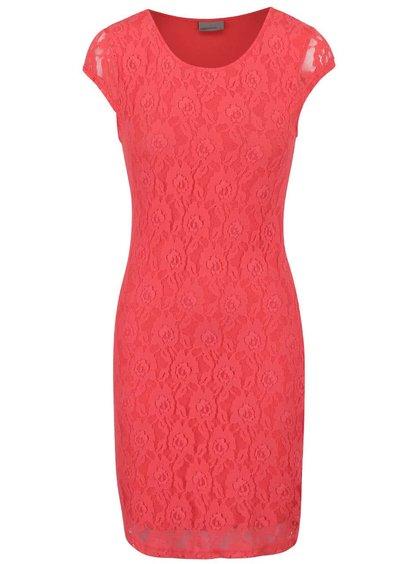 Rochie Vero Moda Lilly roz din dantelă
