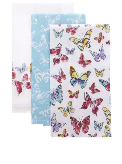 Set de 3 prosoape Cooksmart Butterfly