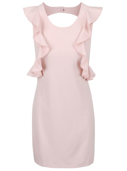 Světle růžové šaty s volánky Alchymi Pyrope