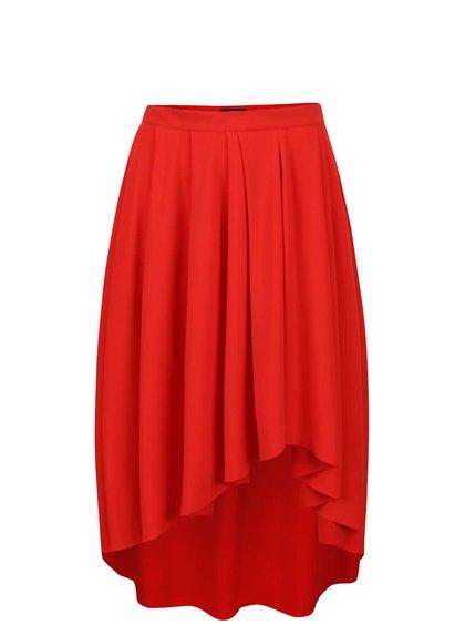 Červená skládaná sukně Alchymi Bellis