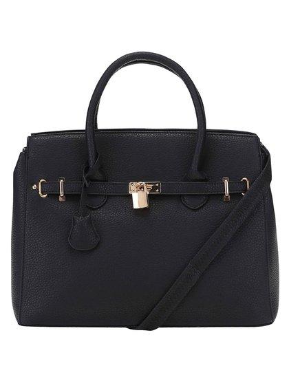 Čierna kabelka do ruky s detailmi v zlatej farbe Haily´s Heike