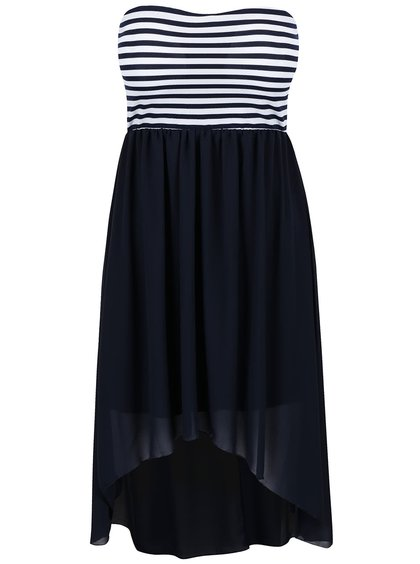 Tmavě modré pruhované šaty bez ramínek Haily´s Virginia