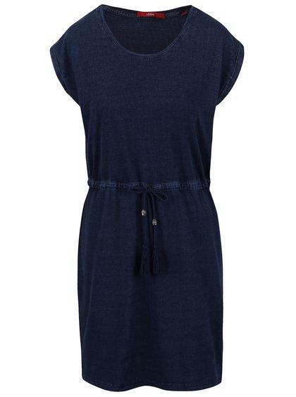 Tmavě modré šaty s.Oliver