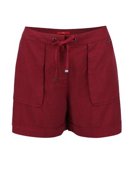 Pantaloni scurți s.Oliver vișinii