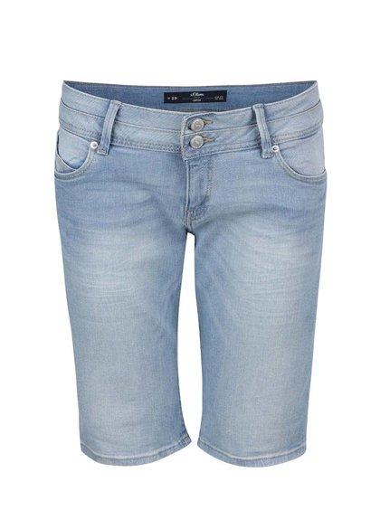 Světle modré dámské džínové kraťasy s.Oliver