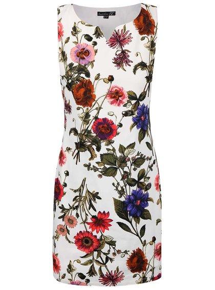 Krémové šaty s potlačou kvetín Smashed Lemon