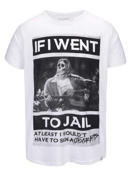 Tricou Shine Original Jail alb cu mesaj
