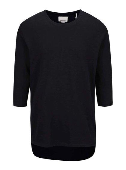 Čierne tričko s 3/4 rukávom Shine Original