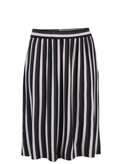 Šedo-modro-béžová pruhovaná sukně Dorothy Perkins Curve