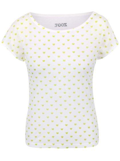 Krémové dámské vzorované tričko Míša