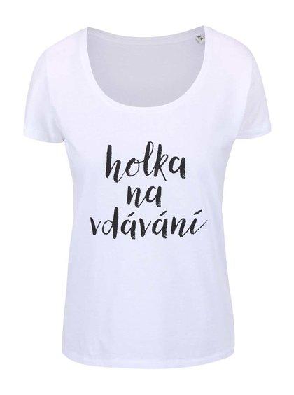 Bílé dámské tričko ZOOT Originál Holka na vdávání