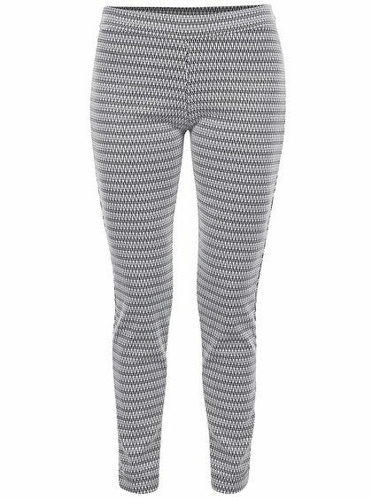 Černo-bílé vzorované kalhoty Alchymi Sutera
