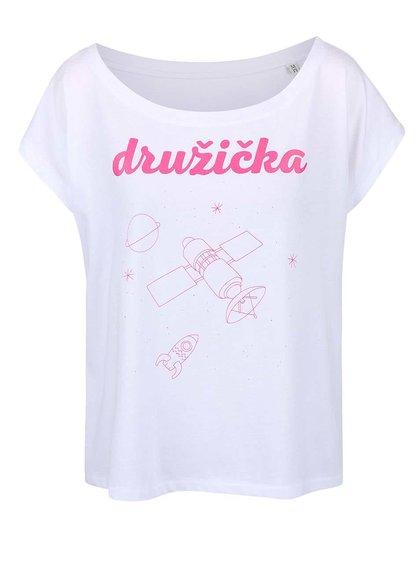 Bílé dámské volnější tričko ZOOT Originál Družička