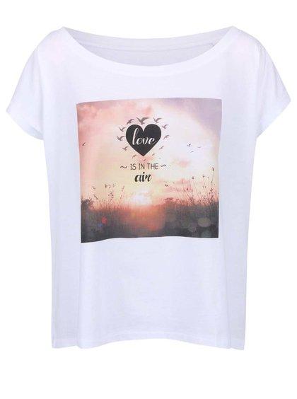 Bílé dámské volnější tričko ZOOT Originál Love Is In The Air
