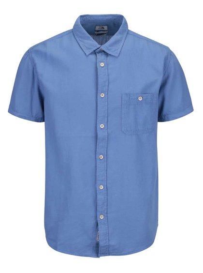 Modrá pánska košeľa s krátkym rukávom Quiksilver Time Box