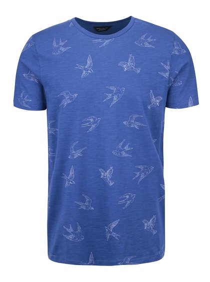 Tricou Jack & Jones Damien albastru cu imprimeu