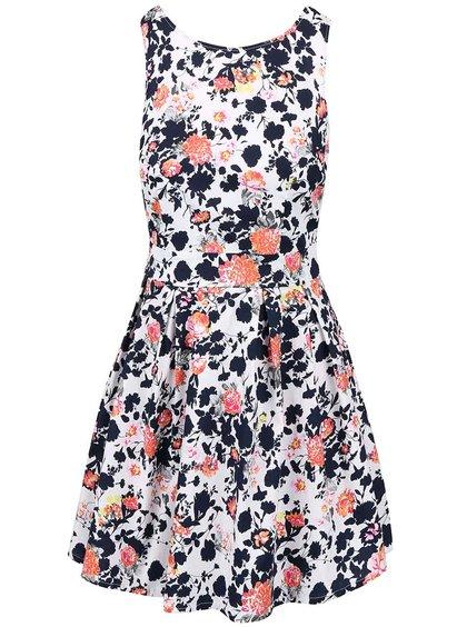 Rochie Apricot albă cu imprimeu
