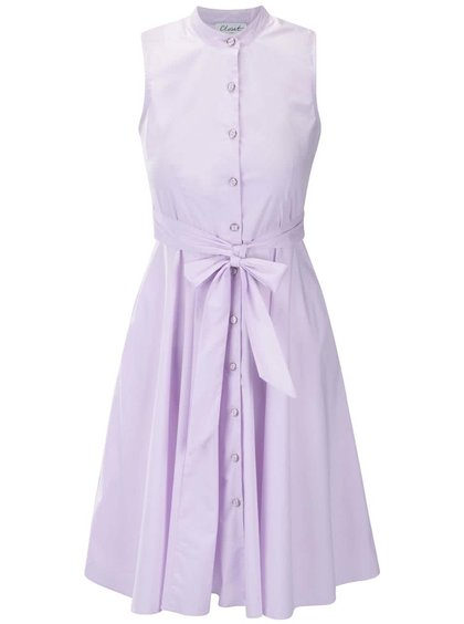 Lila šaty bez rukávů a na knoflíky Closet