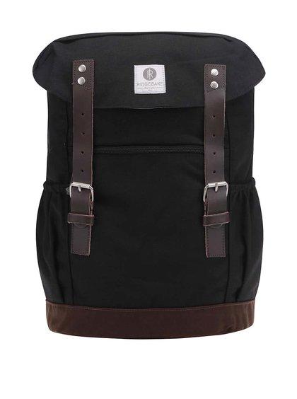 Černý unisex batoh s hnědými přezkami Ridgebake Otone Canvas
