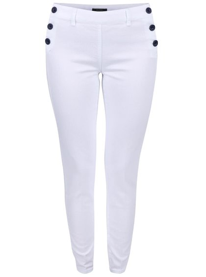 Biele dámske nohavice s gombíkmi Nautica