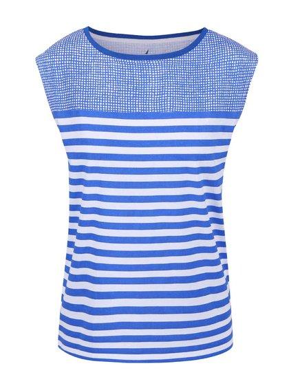 Bílo-modré dámské pruhované tričko Nautica