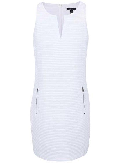 Biele rebrované šaty s vreckami Nautica