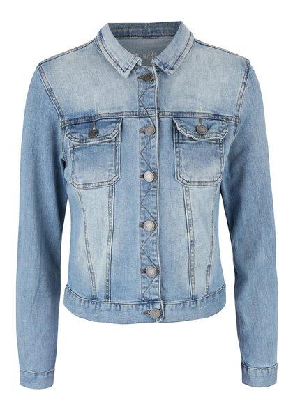Jachetă SisterS Point Flora albastră din denim