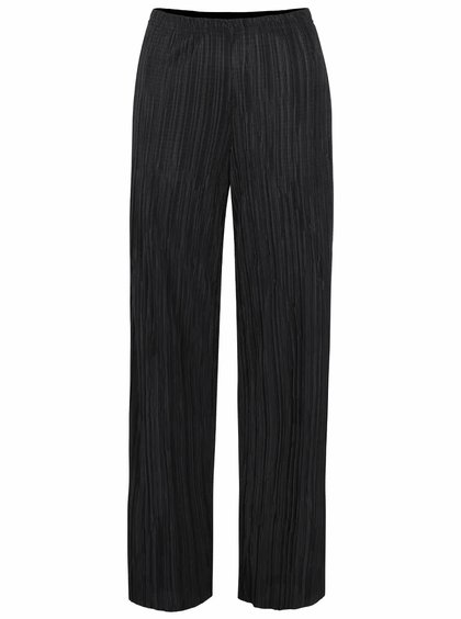 Pantaloni plisați SisterS Point Nicca negri
