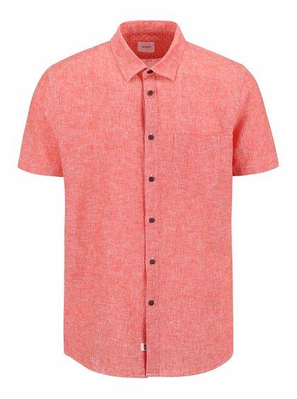 Koralová melírovaná košeľa s krátkym rukávom Burton Menswear London