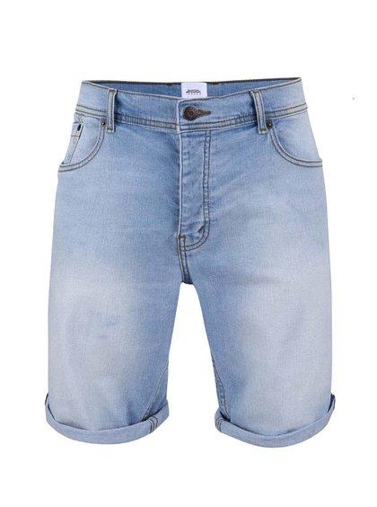 Pantaloni scurţi din denim Burton Menswear London albastru deschis