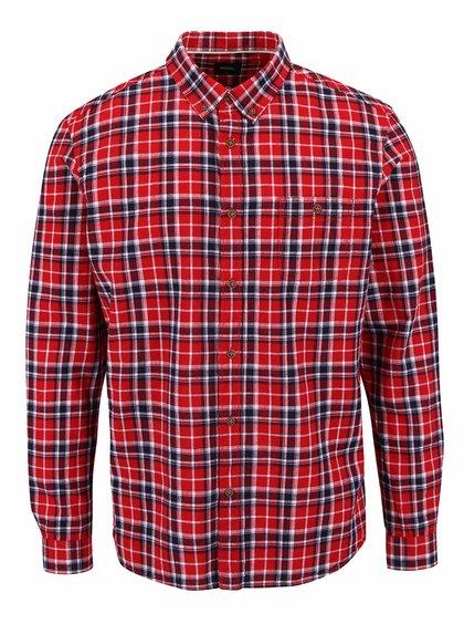 Modro-červená kockovaná košeľa Burton Menswear London