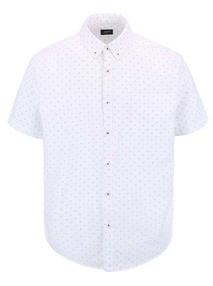 Bílá košile s drobným vzorem Burton Menswear London