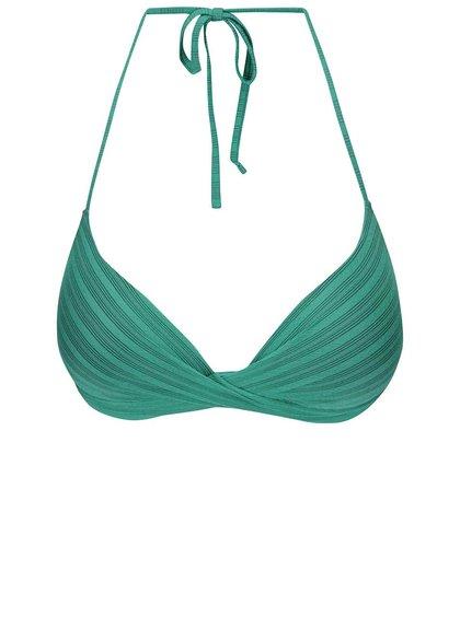 Zelený vrchní díl plavek s pruhy Vero Moda Sanne