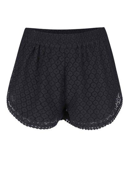 Černé krajkované kraťasy Vero Moda Jolien