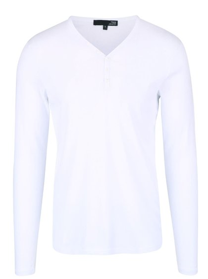 Bílé triko s dlouhým rukávem !Solid Philip